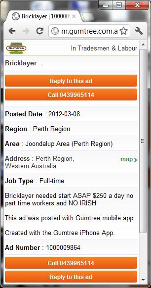 gumtree jobs perth wa